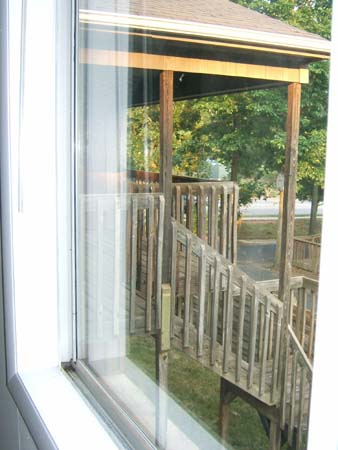 Deck through hallway window