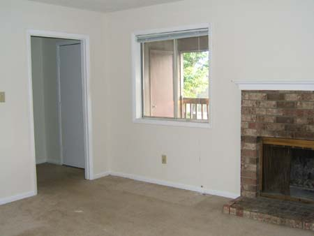 Living room, fireplace