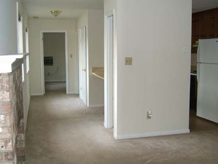 Living room, hallway, kitchen